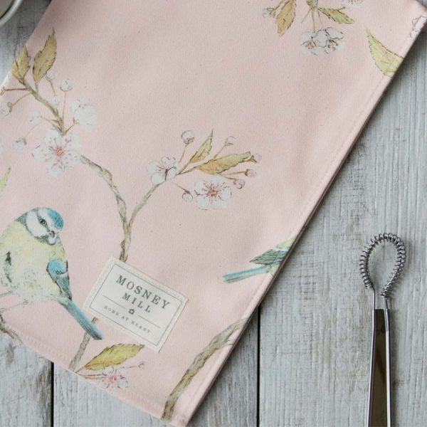 Blue Tit on Blossom Tea Towel
