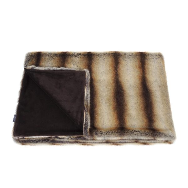 Brown Chinchilla Faux Fur Comforter