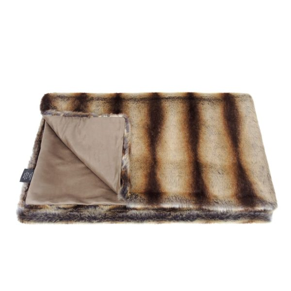 Brown Chinchilla Faux Fur Throw