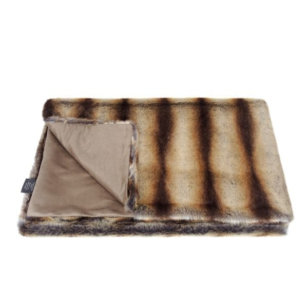 Brown Chinchilla Faux Fur Throw