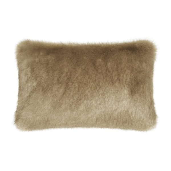 CAMEL | FAUX FUR | RECTANGULAR CUSHION