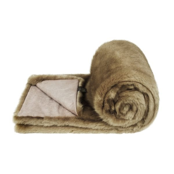 Camel Faux Fur Bed Runner