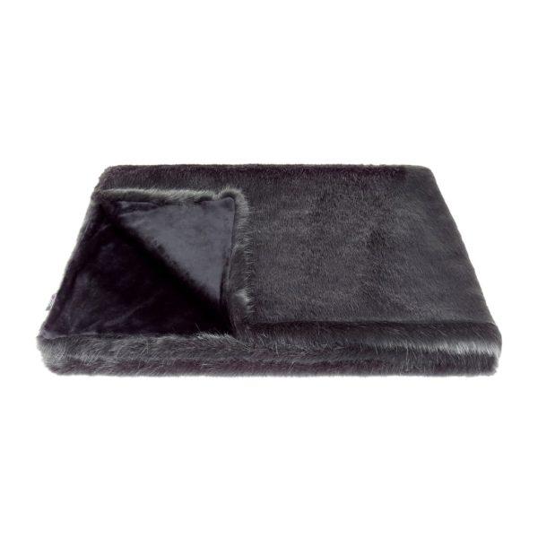Charcoal Faux Fur Comforter