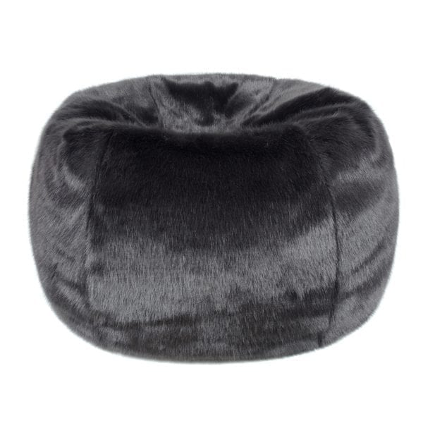 Charcoal Faux Fur Giant Beanbag
