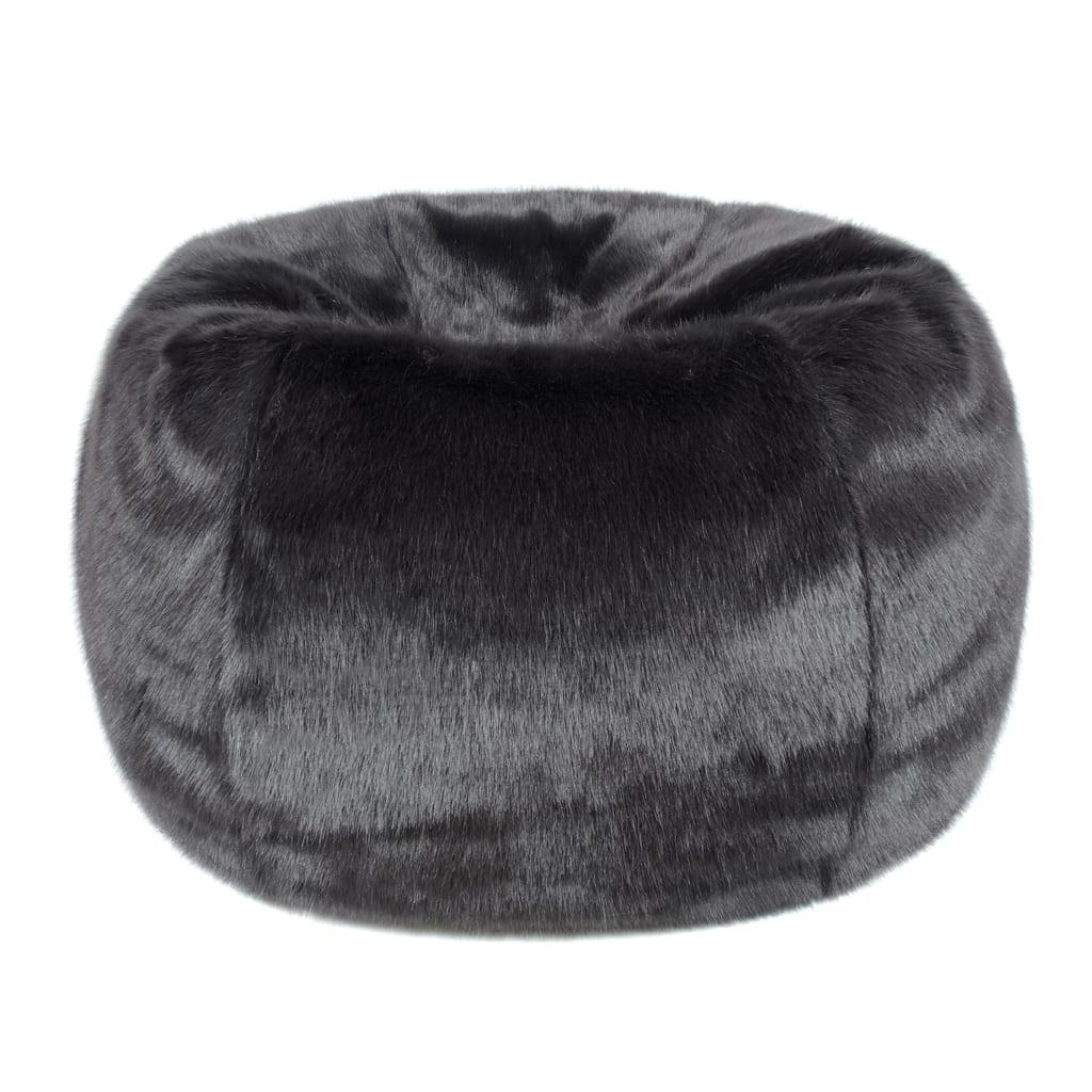 Charcoal Faux Fur Giant Beanbag