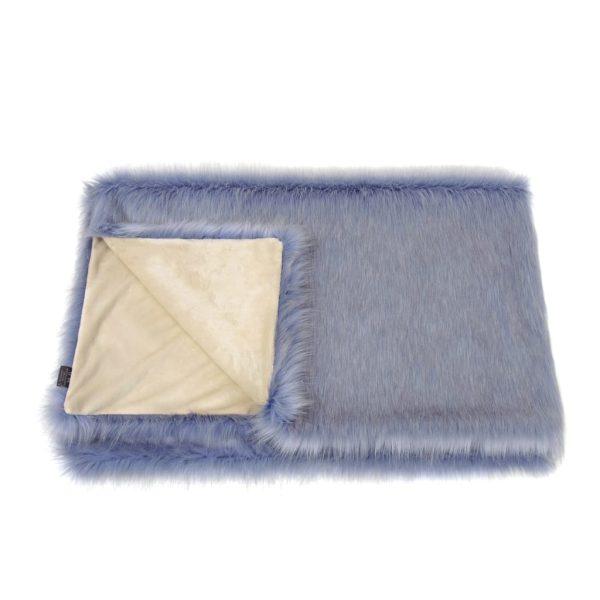 Cornflower Faux Fur Comforter