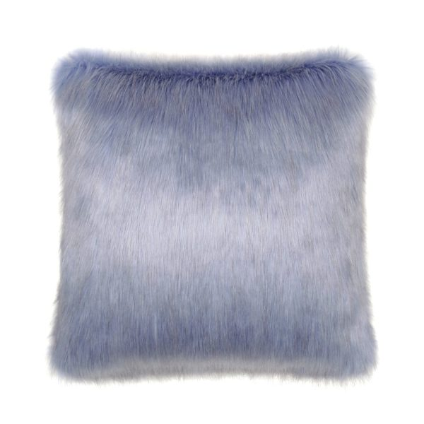 Cornflower Faux Fur Square Cushion