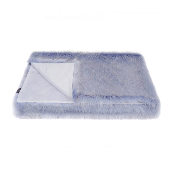 Cornflower Faux Fur Throw