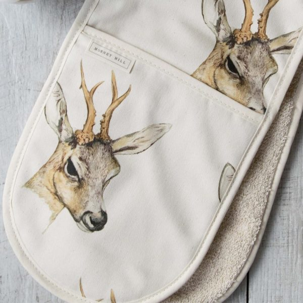 Deer Double Oven Gloves