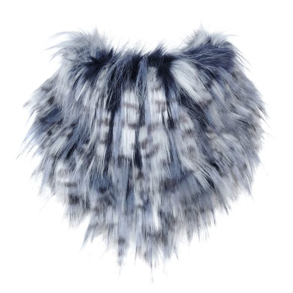 Denim Faux Fur Bandana