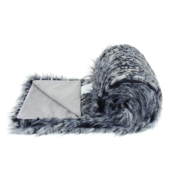 Denim Faux Fur Bed Runner