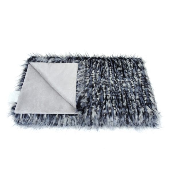 Denim Faux Fur Throw