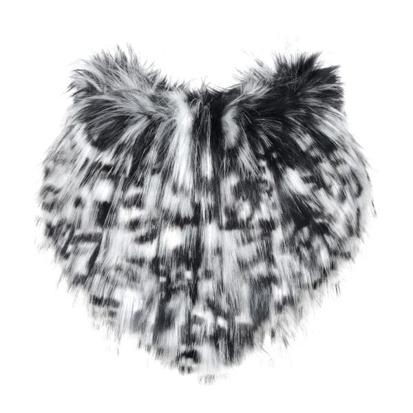 Domino Faux Fur Bandana