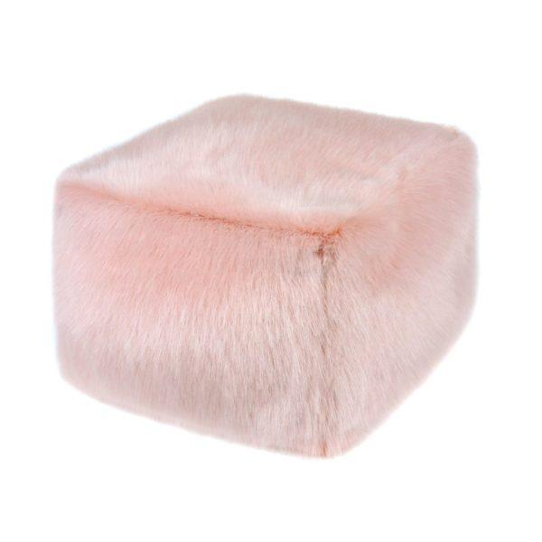 Dusky Faux Fur Cube