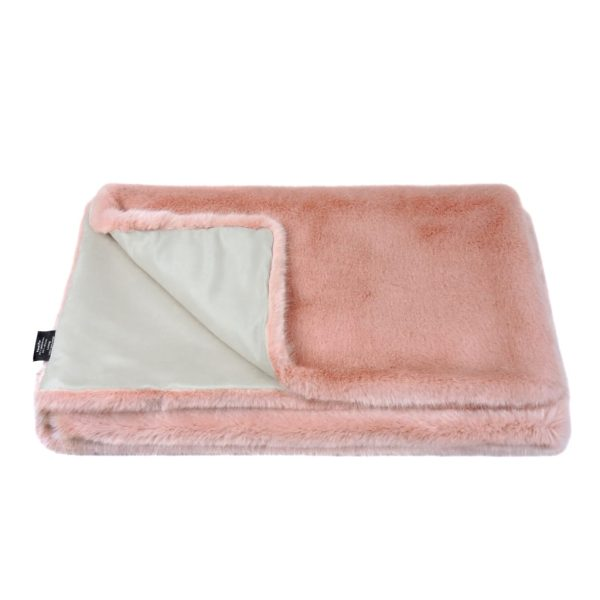 Dusky Faux Fur Throw
