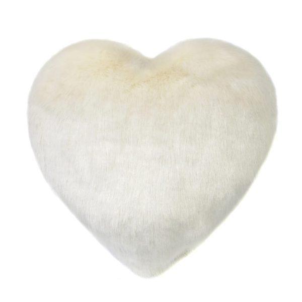 Ermine Faux Fur Heart Cushion