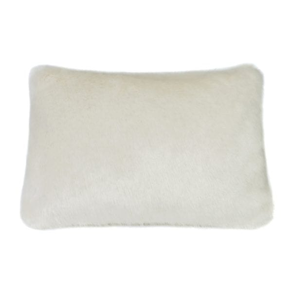 Ermine Faux Fur Rectangular Cushion