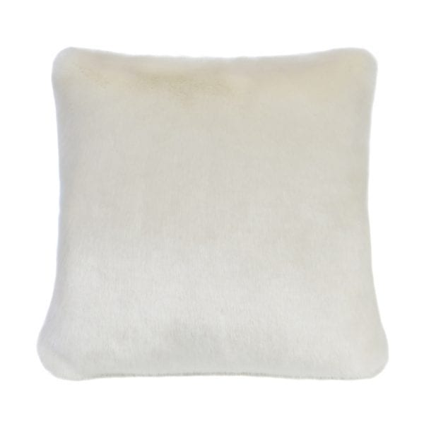 Ermine Faux Fur Square Cushion