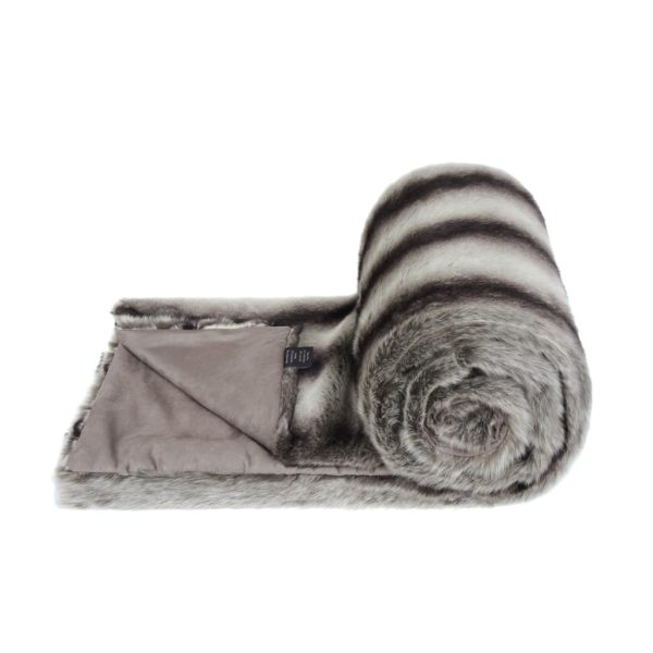 GREY CHINCHILLA | FAUX FUR | BED RUNNER