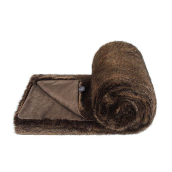 Golden Bear Faux Fur Bed Runner