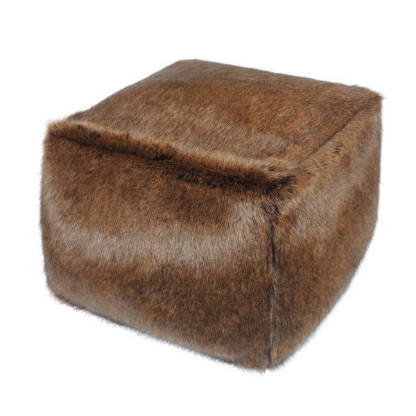 Golden Bear Faux Fur Cube