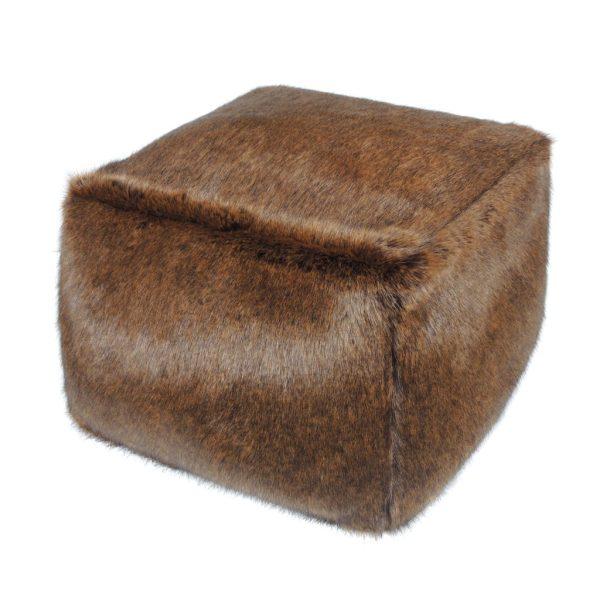 Golden Bear Faux Fur Cube