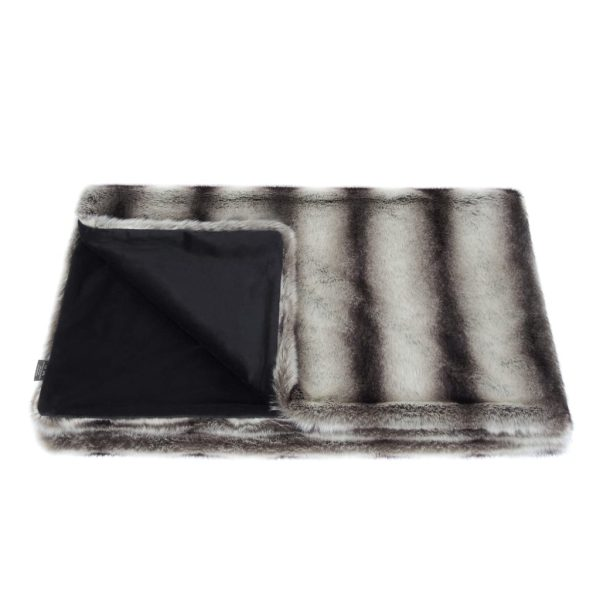 Grey Chinchilla Faux Fur Comforter