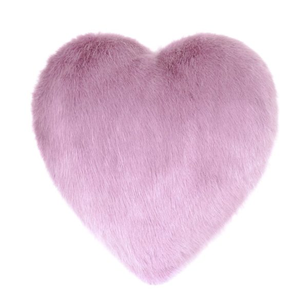 Heather Faux Fur Heart Cushion