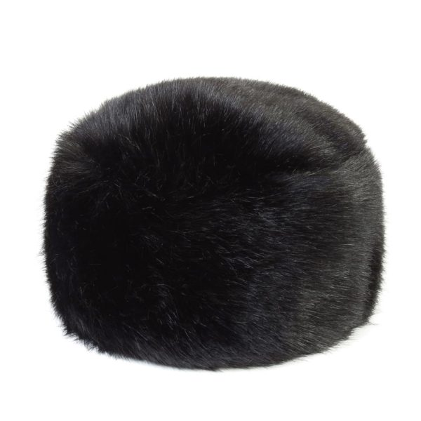 Jet Faux Fur Box Hat