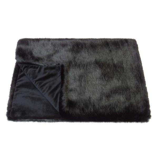 Jet Faux Fur Comforter