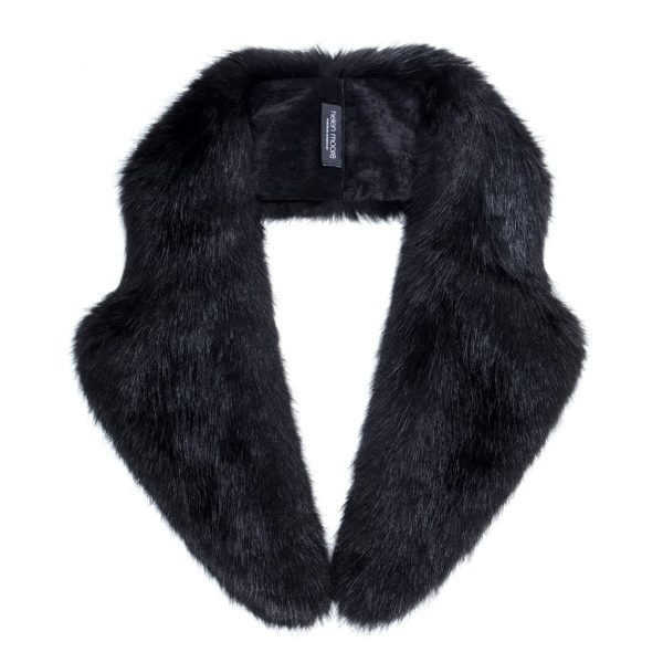 Jet Faux Fur Lapel Collar