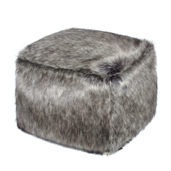 Lady Grey Faux Fur Cube