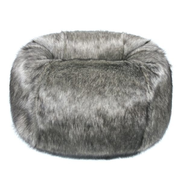 Lady Grey Faux Fur Giant Beanbag