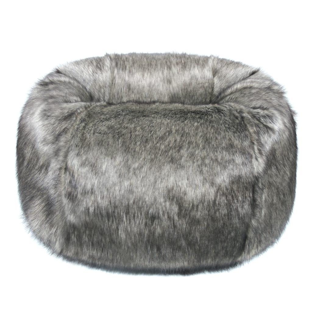 Lady Grey Faux Fur Giant Beanbag