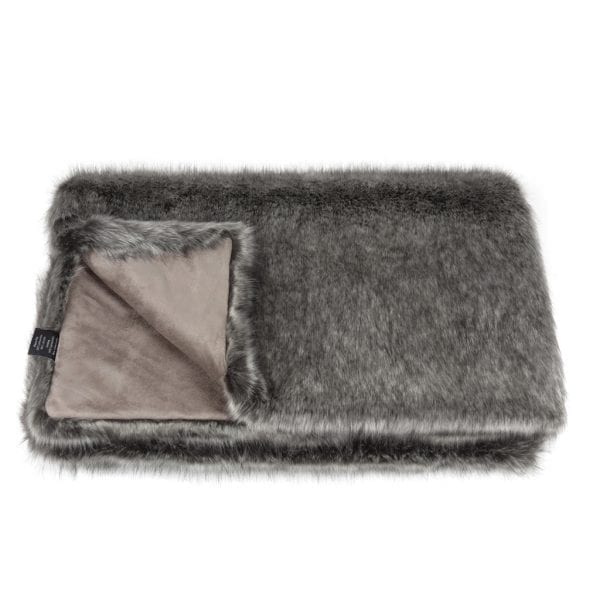 Lady Grey Faux Fur Throw