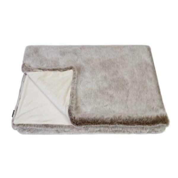 Latte Faux Fur Comforter