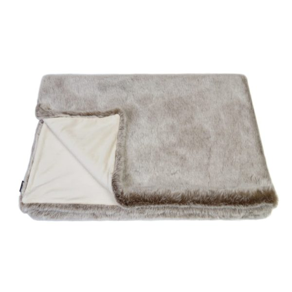 Latte Faux Fur Throw
