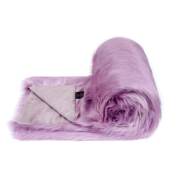 Lilac Faux Fur Bed Runner