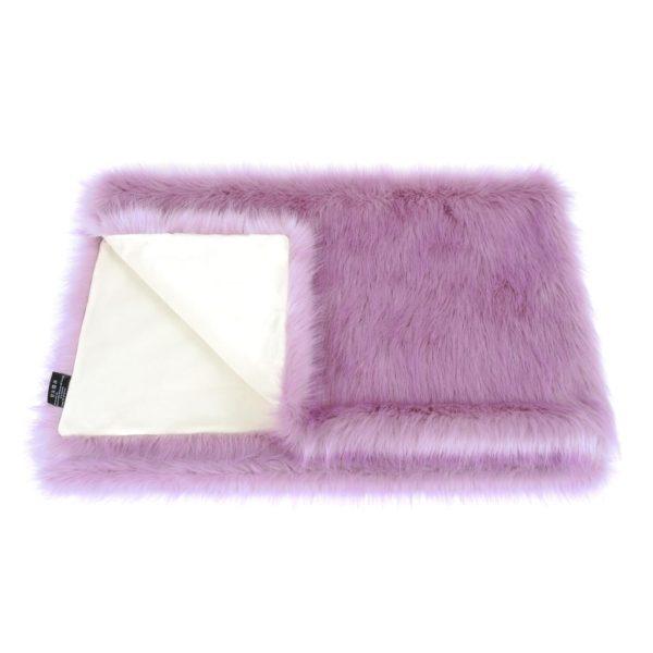 Lilac Faux Fur Comforter