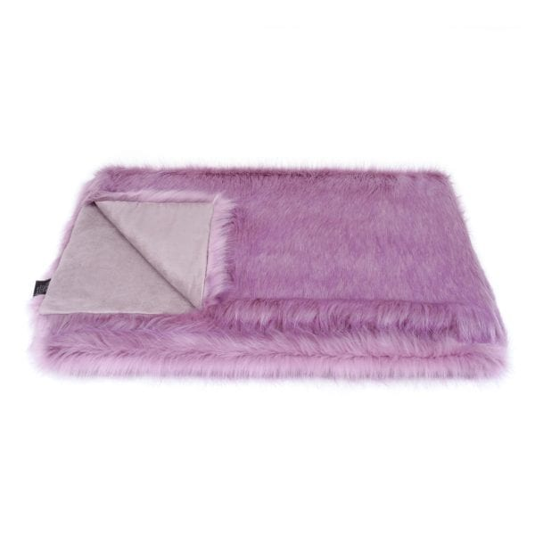Lilac Faux Fur Throw