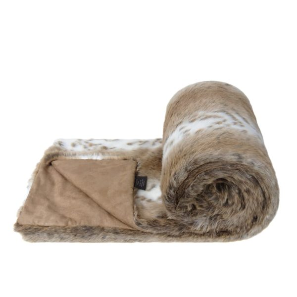 Lynx Faux Fur Bed Runner