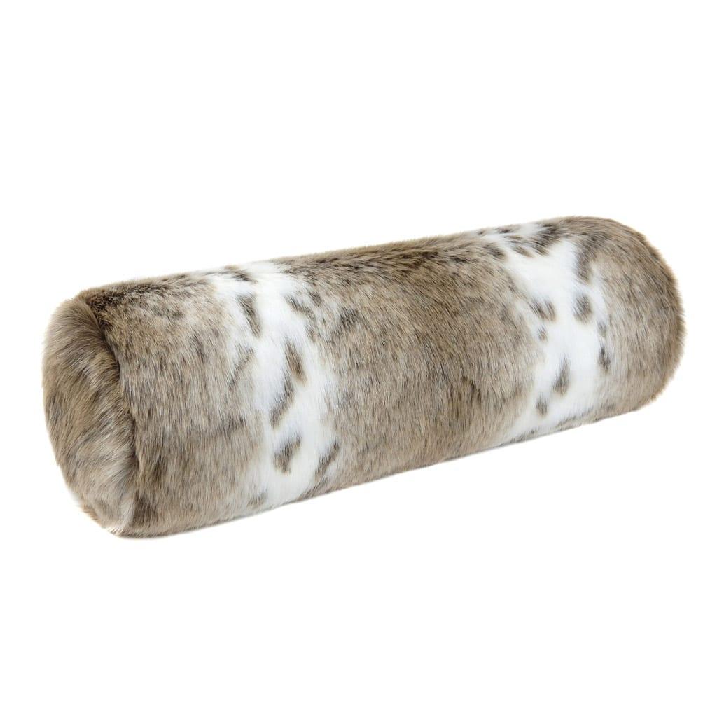 Lynx Faux Fur Bolster Cushion