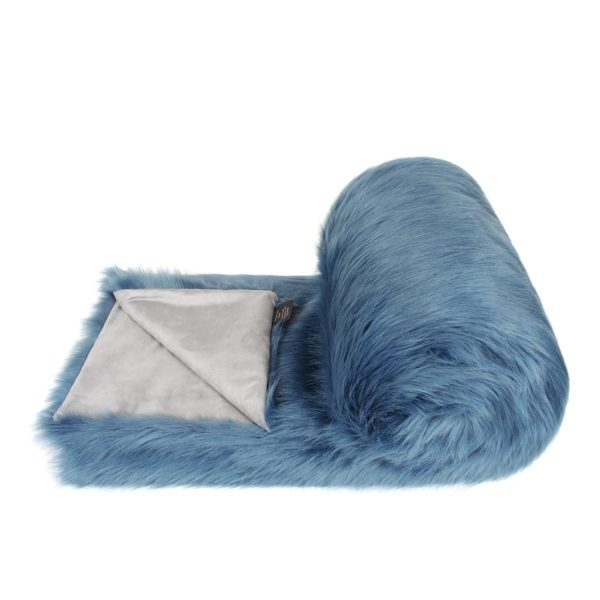Marine Faux Fur Bed Runner