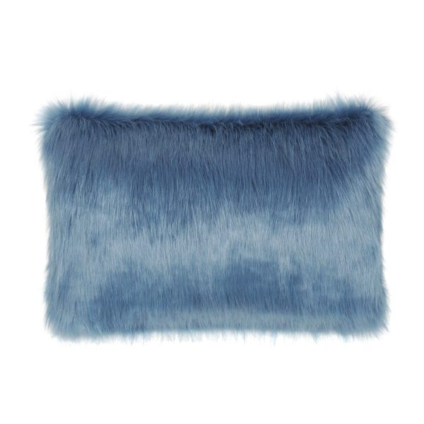 Marine Faux Fur Rectangular Cushion