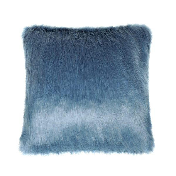 Marine Faux Fur Square Cushion