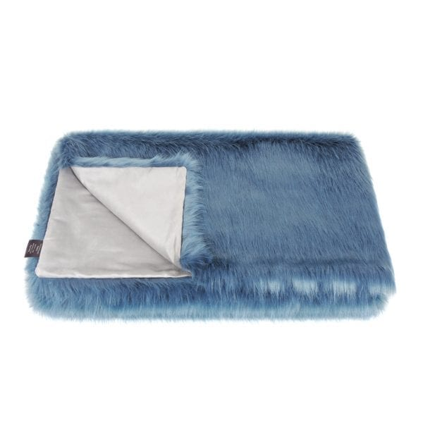 Marine Faux Fur Throw