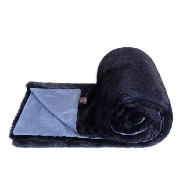 Midnight Faux Fur Bed Runner