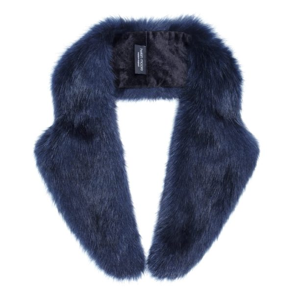 Midnight Faux Fur Lapel Collar