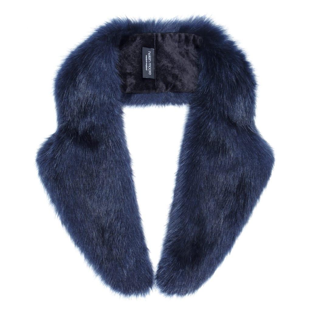 Midnight Faux Fur Lapel Collar
