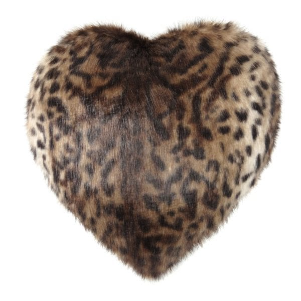 OCELOT | FAUX FUR | HEART CUSHION